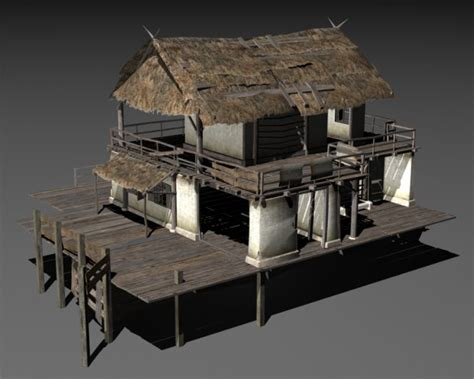 House 3d Model Free Download by Swamp House Downloadfree3d Com