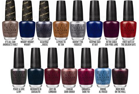 opi fall colors chalkboard nails news opi san francisco collection for