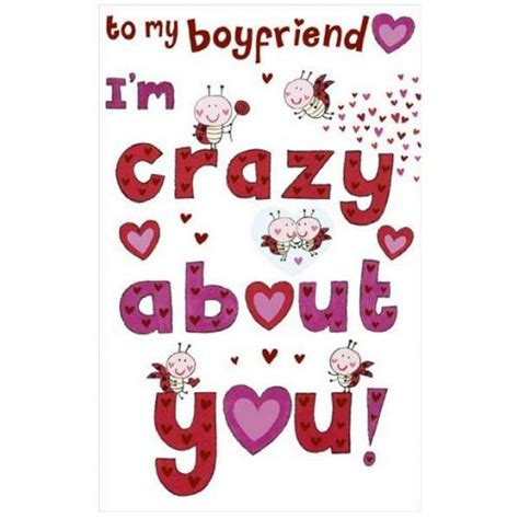 boyfriend i m about you valentines day card with