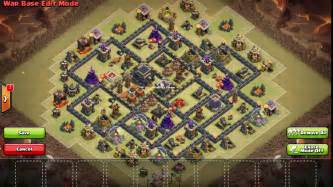 Th9 war base layout 127 mia clash of clans layouts