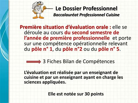 coefficient bac pro cuisine ppt le dossier professionnel baccalaur 233 at professionnel