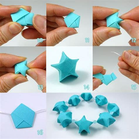 Easy Origami Things - lucky folding steps by all things paper via