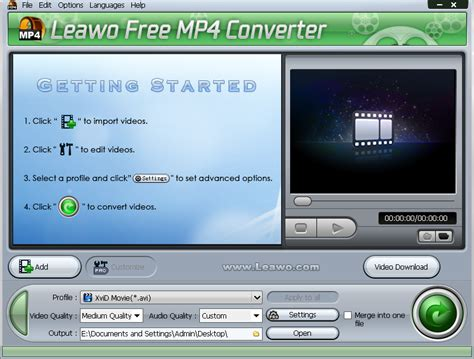 converter online mp4 how to convert avi to mp4 with leawo free mp4 converter