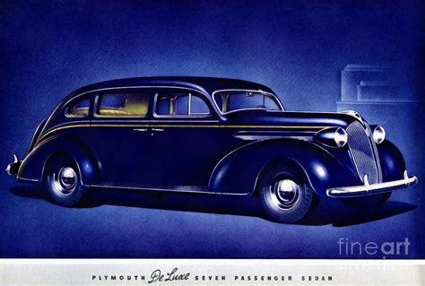 painting plymouth 1937 plymouth deluxe seven passenger sedan painting by
