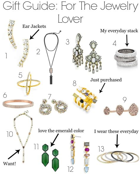 jewelry guide gift guide for the jewelry lover gal about town