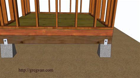 ways   build  shed floor design