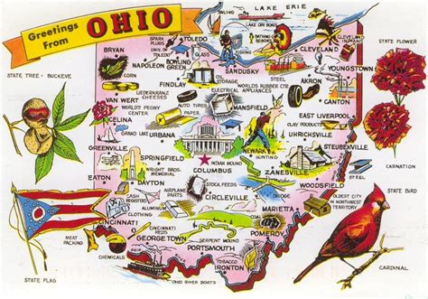 Ohio The 17th State by 51 Best Postcards Of The U S A Images On