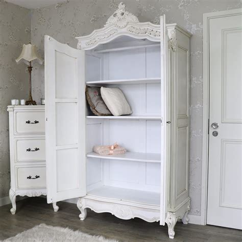 large bedroom armoire large cream double wardrobe armoire linen closet shabby