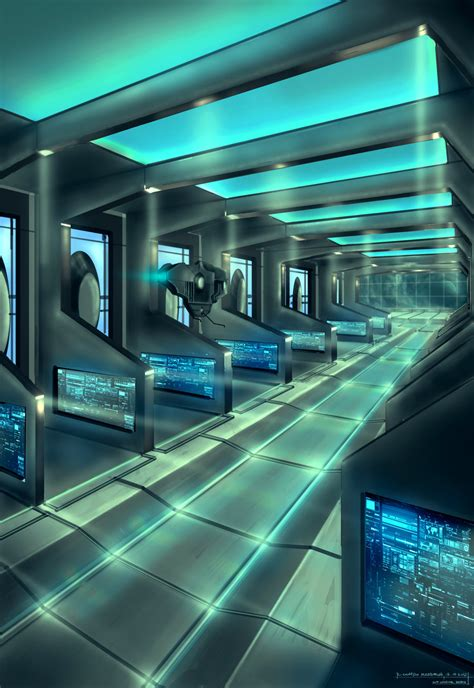 spaceship interior by capottolo on deviantart