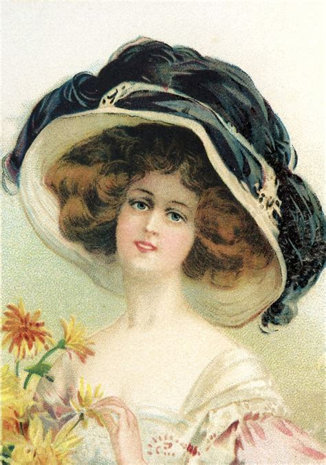 victorian hat woman image  graphics fairy