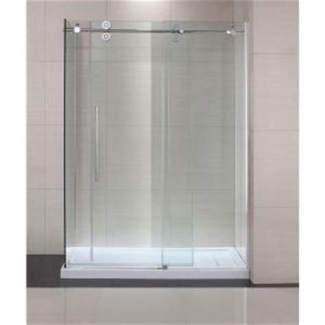 Home Depot Bathroom Doors by Schon Lindsay 60 In X 79 In Semi Framed Shower Enclosure