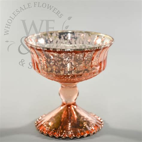 Gold Pedestal Vase by Glass Pedestal Vase Gold 4 8 Quot Wholesale Flowers And