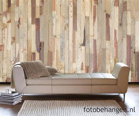 slaapkamer met hout behang steen en hout behang voor een industri 235 le look in je
