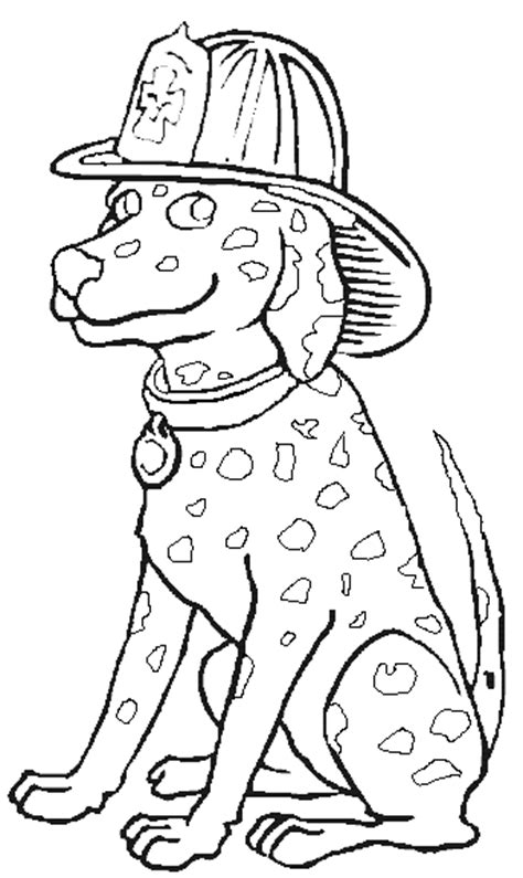 dalmatian fireman coloring page coloring pages