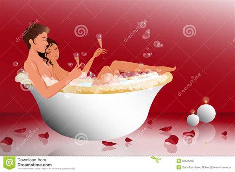 Bilder Badewanne Romantisch by In The Bathtub Stock Vector Illustration