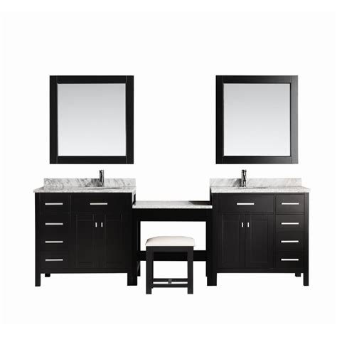 best l for makeup vanity design element two london 36 in w x 22 in d vanity in