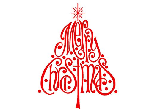 merry silhouette merry tree svg or silhouette instant