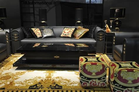 Metallic Home Decor living room trends versace home