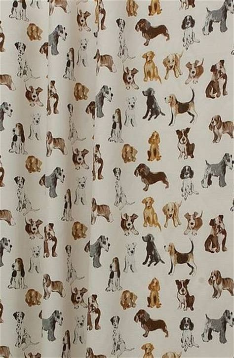 dog print curtains hot dog natural 163 14 per metre animal themed prints