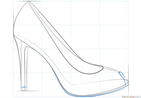 how to to heel how to draw a high heel shoe step by step drawing tutorials