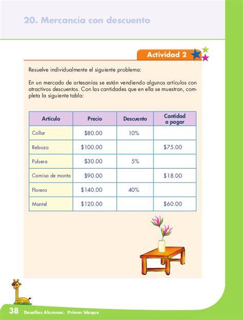 desafios matematicos alumnos 6o sexto grado primaria by gines ciudad desafios matematicos 6 170 grado