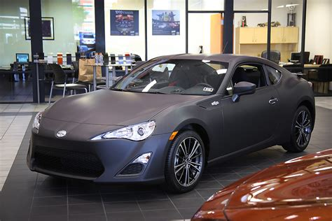frs car black toyota of plano scion fr s matte black wrap car wrap city