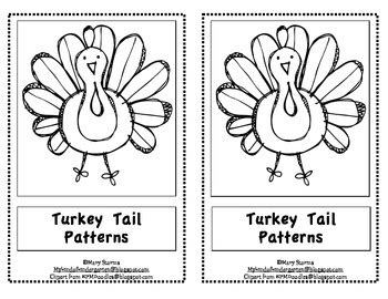 thanksgiving pattern worksheets kindergarten kindergarten thanksgiving emergent reader quot turkey tail