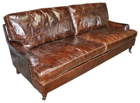 noir 3 seater sofa vintage cigar leather contemporary