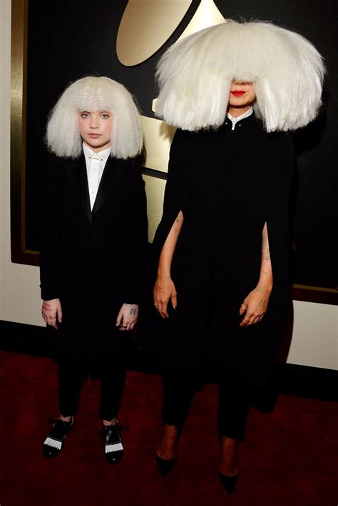 swing from the chandelier sia sia and maddie ziegler photos grammys 2015 best and