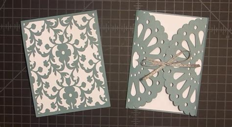 cricut using card templates frilly doily card with cricut explore tutorial