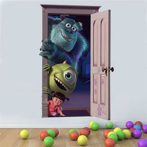 monsters inc wall stickers wall decal monsters inc wall decals for room
