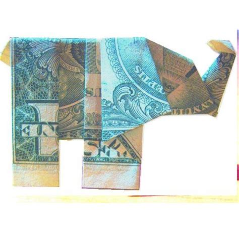 Dollar Bill Origami Elephant - dollar bill origami elephant ganesh