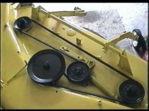 john deere  tractor mowing deck belt configuration