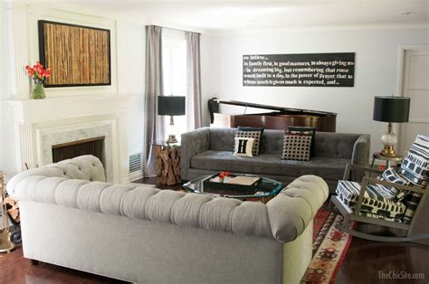 two couches in a living room living room makeover the chic site