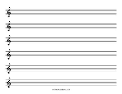printable music staff paper blank blank treble clef staff paper free sheet music template pdf
