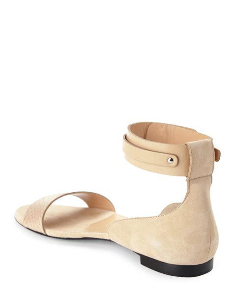 ankle cuff flat sandals stuart blush ankle cuff flat sandal in pink lyst