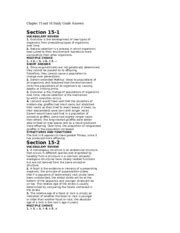 Chapter 15 and 16 Study Guide Answers (1) - Chapter 15 and