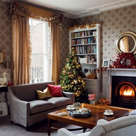 christmas living rooms christmas living room timeless christmas decorating