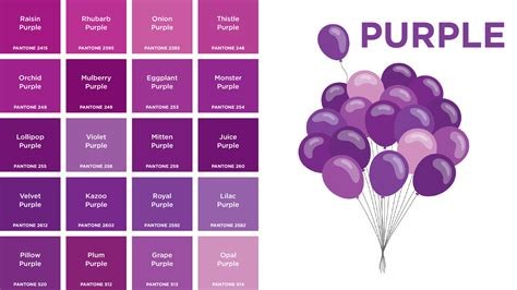 shades of purple chart purple colors names picture gallery french and fancy
