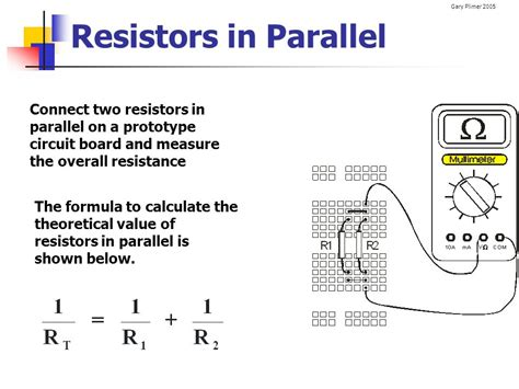resistor are both connected in parallel across a power supply electrical circuits electronics ppt