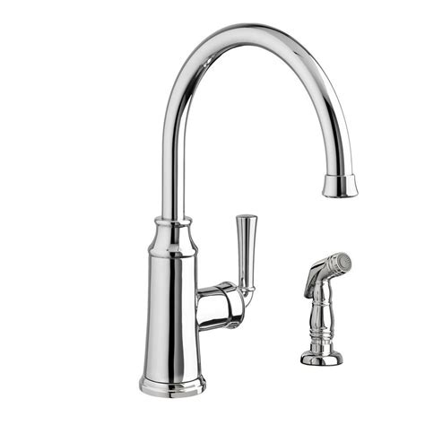 American Standard Faucet Kitchen American Standard Portsmouth High Arc Single Handle Standard Kitchen Faucet With Side Sprayer In