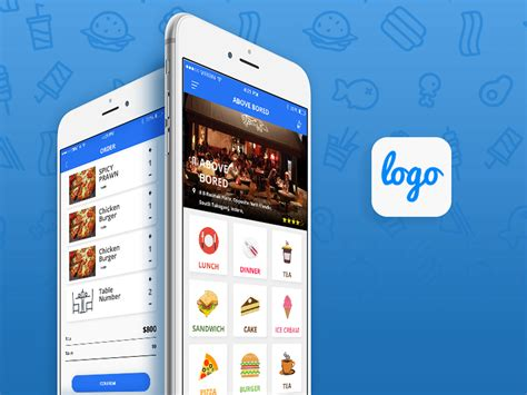 Restaurant App Design Template Free Android Ios App For Food Ordering Creative Designs Idea Android App Design Template Free