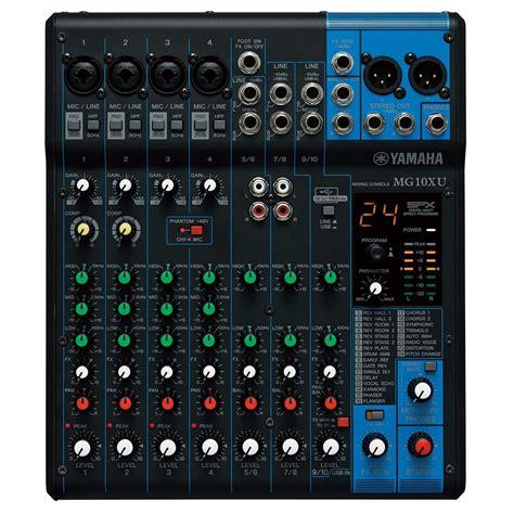 Mixer Yamaha Usb yamaha mg10xu mixer analogico usb a gear4music