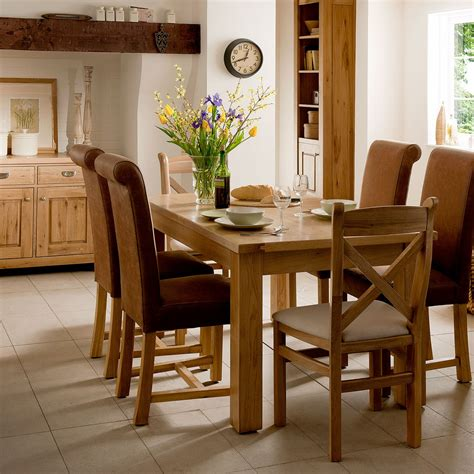 tuscany oak large extending dining table contemporary