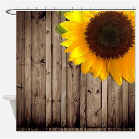 sunflower shower curtains country sunflowers shower curtains country sunflowers