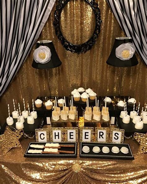 party themes black and gold black white and gold birthday party decorations image