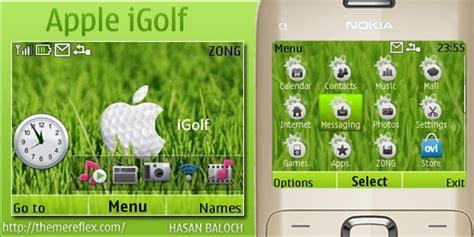 nokia 5130 apple themes apple igolf theme for nokia c3 x2 01 themereflex