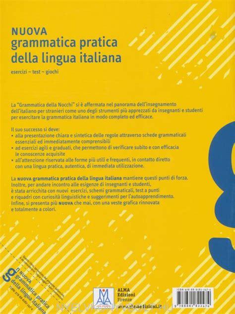 test giochi nuova grammatica pratica della lingua italiana esercizi