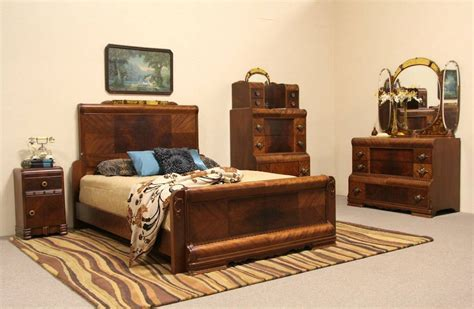 waterfall art deco bedroom furniture art deco waterfall 1935 queen size 3 pc bedroom set ebay