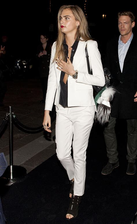 cara delevingne white suit cara delevingne in a white suit popsugar fashion